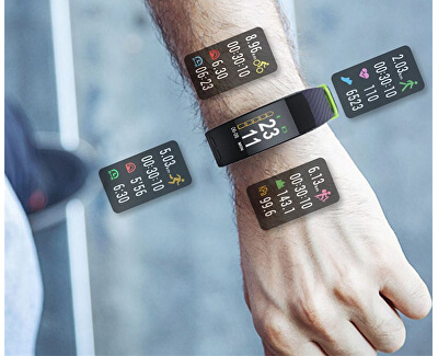 Deveroux P5 GPS fitness náramek - černý
