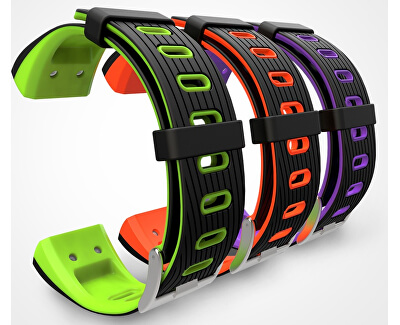 Deveroux P5 GPS fitness náramek - oranžový - SLEVA