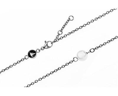 Sunray Silver Mesh & Mini Pearl Bracelet EWS010