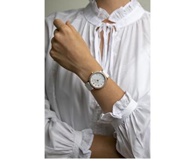 Kamet Lychee White Leather Strap FCD-B013R