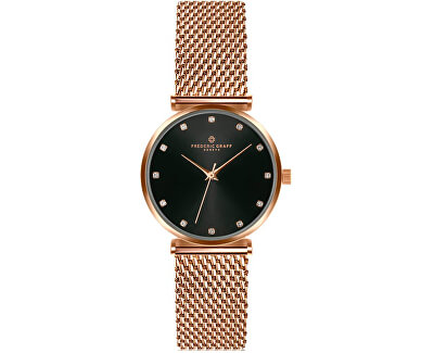 Batura Star Rose Gold Mesh Watch FCB-3918