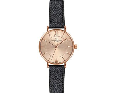 Kanjut Sar Black Leather Strap Watch FCE-B034R