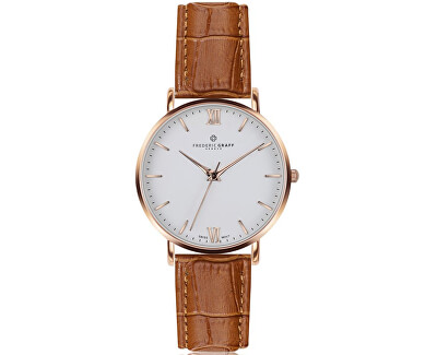 Rose Dent Blanche Croco ginger brown Leather FAG-B002R