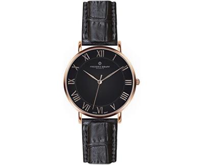 Rose Dom Croco black Leather FAE-B001R