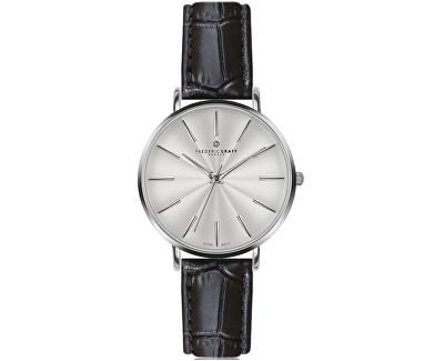 Silver Monte Rosa Croco black Leather FAL-B009S