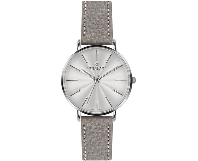 Silver Monte Rosa Lychee grey Leather FAL-B015S