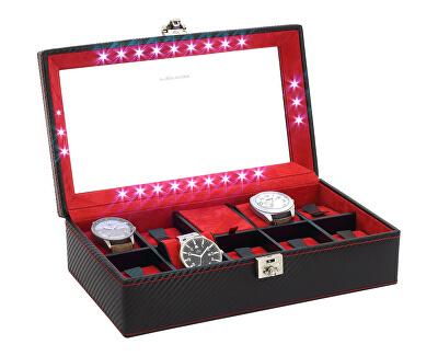 Carbon 32059-2 Cutie-Casetă elegantă cu depozitare pentru 9 ceasuri
