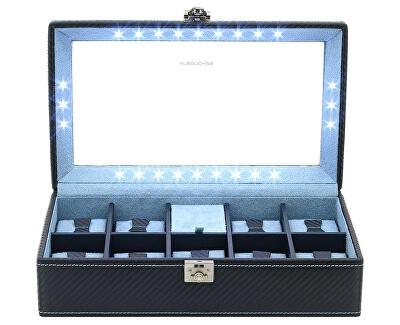 Carbon 32059-5Cutie-Casetă elegantă cu depozitare pentru 9 ceasuri