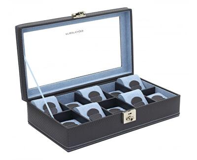 Casetă elegantă - depozitare pentru 10 ceasuri Carbon 32048-5