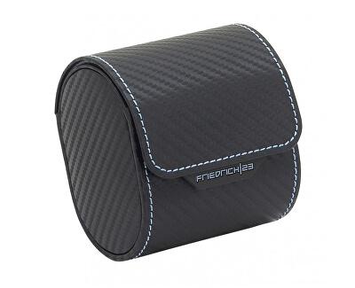 Casetă de ceas modernăde călătorie Carbon 32057-5