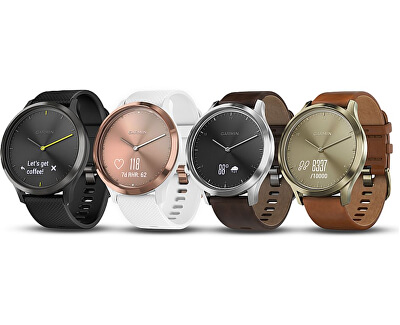 Vivomove Optic Premium chytré hodinky (vel. L) stříbrné - SLEVA