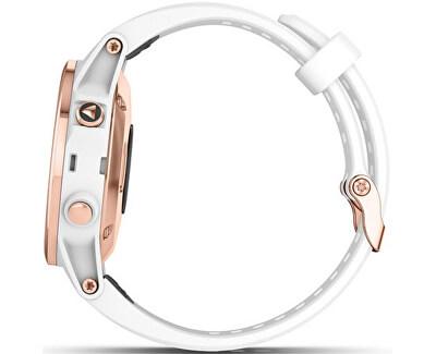 Fenix 5S Plus Sapphire Rose Gold, White Band