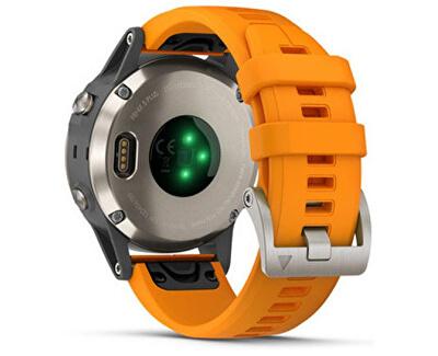 Fenix 5S Plus Sapphire Titanium, Flare Orange