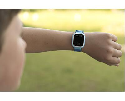 Chytré dotykové hodinky s GPS lokátorem LK 703 růžové + SIM karta GoMobil s kreditem 50 Kč - SLEVA