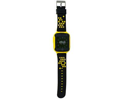 Chytré dotykové hodinky s GPS lokátorem a fotoaparátem - LK 707 žluté