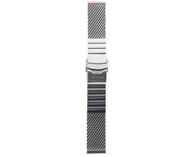 Lars Larsen Striped Milan Strap / Argintiu 22 mm MS22