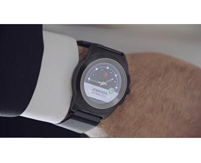 Hybridné hodinky ZeTime Original Silver/White - 44mm