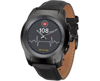 Hybridné hodinky ZeTime Premium Black/Black - 44 mm