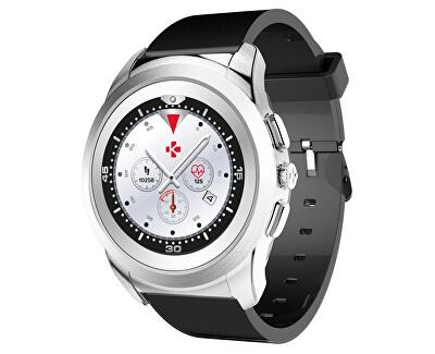 Hybridní hodinky ZeTime Original Silver/Black - 44mm
