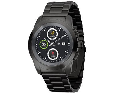 Hybridní hodinky ZeTime Elite Black Metal - 39 mm
