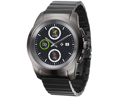 Hybridné hodinky ZeTime Elite Titanium Modern Link - 44 mm