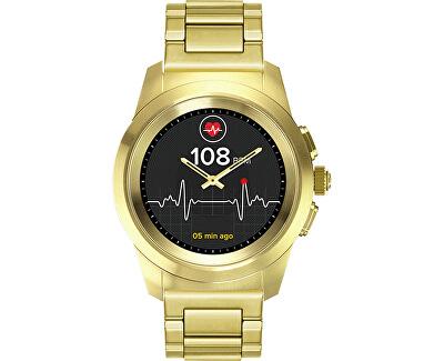 Hybridní hodinky ZeTime Elite Yellow Gold Metal - 44 mm