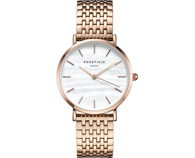 Rosefield The Upper East Side White Pearl Rosegold