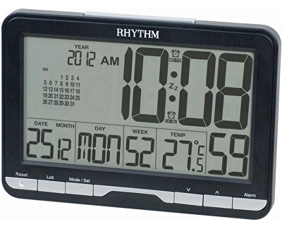 LCD stolní hodiny LCT072NR02