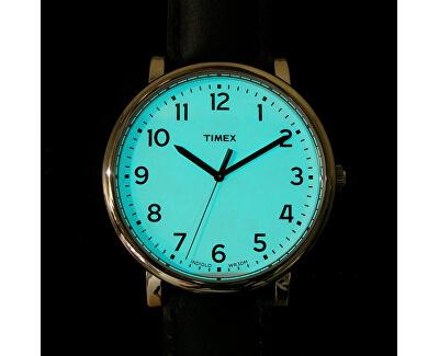 Po stisknutí korunky ciferník díky unikátnímu osvětlení Indiglo svítí. Foto je pouze ilustrativní, je zobrazen jiný model hodinek Timex.