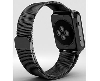 Ocelový milánský tah pro Apple Watch - Černý 38/40 mm
