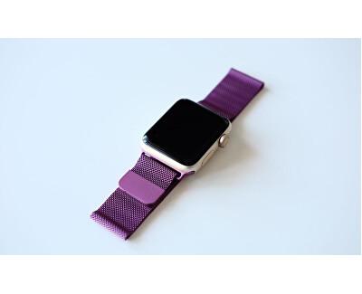 Ocelový milánský tah pro Apple Watch - Fialový 42/44 mm