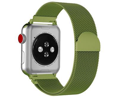 Ocelový milánský tah pro Apple Watch - Limetkový 38/40 mm
