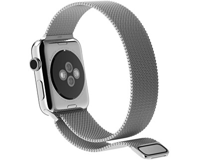 Milánói acél szíj Apple Watch - Ezüst 38/40 mm