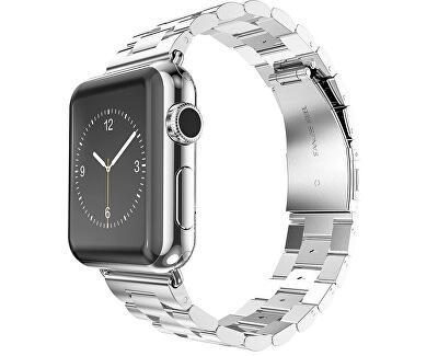 Ocelový tah pro Apple Watch - Stříbrný 42/44 mm
