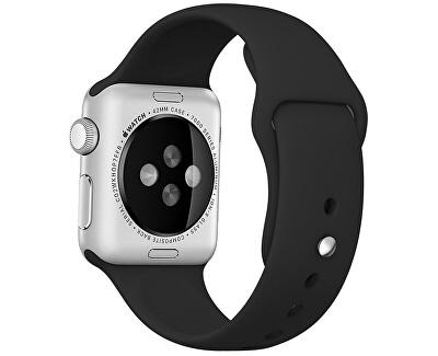 Silikonový řemínek pro Apple Watch - Černý 38/40 mm
