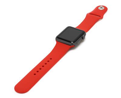 Silikonový řemínek pro Apple Watch - Červený 42/44 mm - M/L