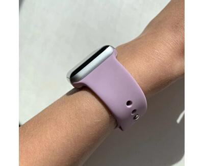 Silikonový řemínek pro Apple Watch - Světle fialový 38/40 mm - S/M