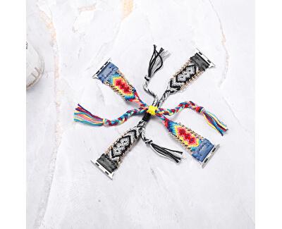 Textilní řemínek pro Apple Watch - Černo-bílý 38/40 mm