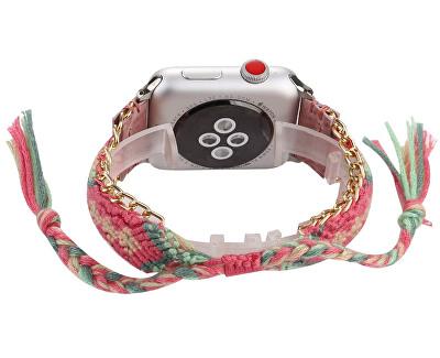 Textilní řemínek pro Apple Watch - Růžový 42/44 mm