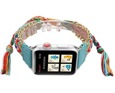 Textilní řemínek pro Apple Watch - Vícebarevný 38/40 mm