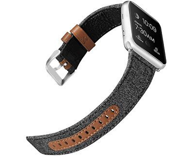 Kůže + textil řemínek pro Apple Watch - 38/40 mm