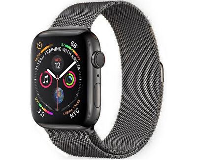 Ocelový milánský tah pro Apple Watch - Grafitový 42/44 mm