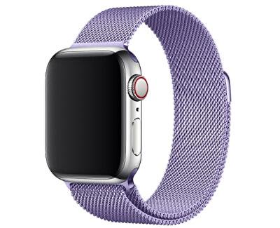 Ocelový milánský tah pro Apple Watch - Levandulový 42/44 mm