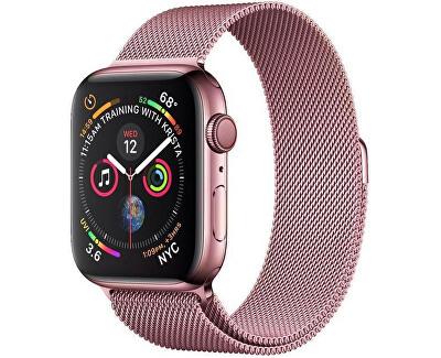 Ocelový milánský tah pro Apple Watch - Růžový 42/44 mm