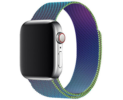 Ocelový milánský tah pro Apple Watch - Vícebarevný 38/40 mm