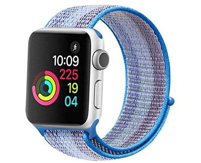 Provlékací sportovní řemínek pro Apple Watch - Světle modrá 42/44 mm