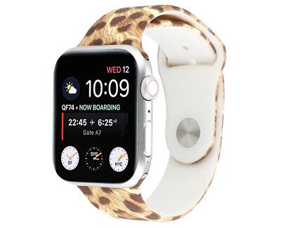Silikonový řemínek pro Apple Watch - Leopardí 38/40 mm
