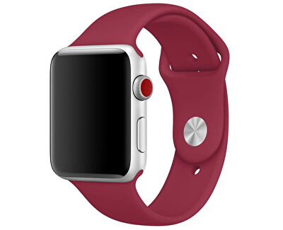 Silikonový řemínek pro Apple Watch - Vínová 42/44 mm - S/M