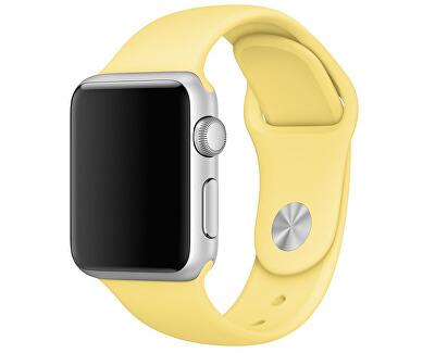 Silikonový řemínek pro Apple Watch - Žlutá 42/44 mm - S/M