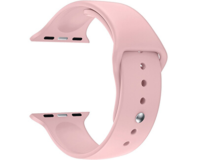 Silikonový řemínek pro Apple Watch - Růžový 38/40 mm - S/M